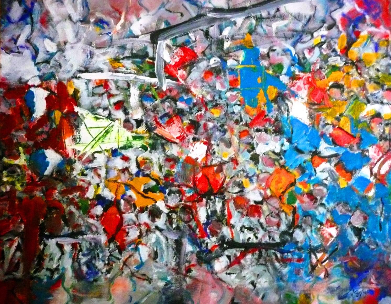 Geliefde Nieuw schilderij - J.A. Spigt   non-figuratieve, abstracte @CR17