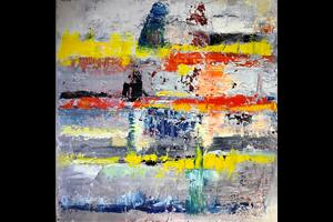 Verwonderend J.A. Spigt   non-figuratieve, abstracte, olieverf- en BU-23